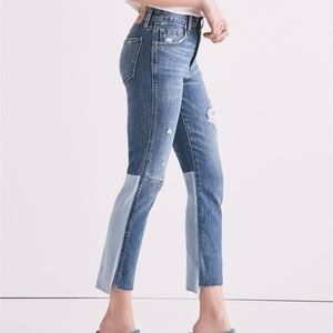 Lucky Brand Distressed High Rise Mixed Wash Jeans